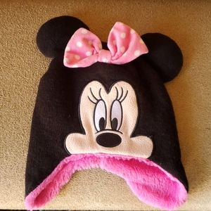 Disney Minnie Mouse hat one size pink black